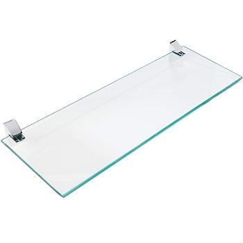 Prateleira de Vidro 15x40cm com Suporte Cromado Incolor - Ref. 08617.003 - PRAT-K