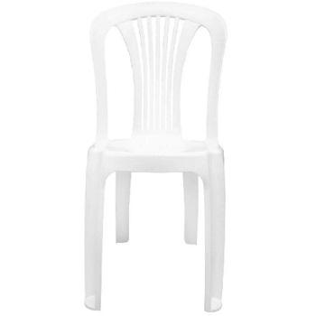 Cadeira Plástica Bistro Branca - Ref.F850000 -  GARDENLIFE