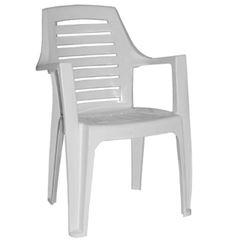 Cadeira Plástica Marbella Branca - Ref.F880000 - GARDENLIFE