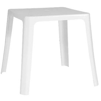 Mesa Plástica 70x70cm Quadrada Intima Branca - Ref.F402500 - GARDENLIFE