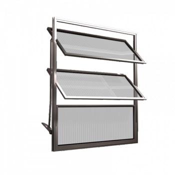 Basculante Alumínio 40x60 3 Folhas Vidro Liso MCJBNTL005 - Ref. EMC002005 - QUALITY