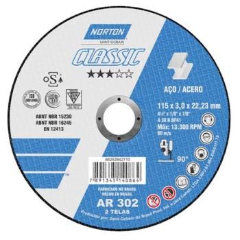Disco de Corte 4.1/2 Polegadas AR302 Classic - Ref.66252842710 - NORTON
