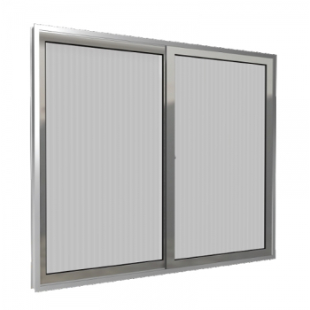 Janela Alumínio 100x100 2 Folhas Vidro Liso MCJCNTL002 - Ref. EMC004004 - QUALITY