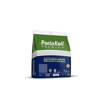 Rejunte Para Porcelanato Saco Com 3kg P-Flex Cinza Platina UP - Ref.96.278 - PORTOKOLL
