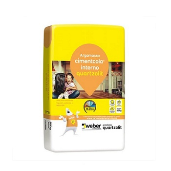Argamassa Interna Saco com 20kg ACI Cinza Embalagem Plástica - Ref.0001.00001.0020PL - QUARTZOLIT