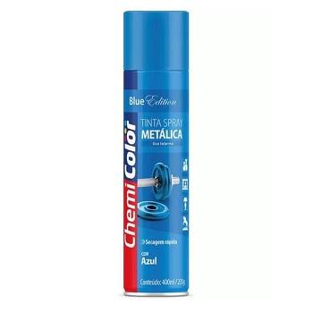 Tinta Spray Metálica 400ml  Azul - Ref. 680100 - CHEMICOLOR