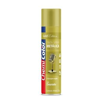 Tinta Spray Metálica Dourado 400ml - Ref. 680199 - CHEMICOLOR