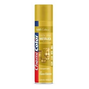 Tinta Spray Metálica 400ml Ouro Clássico - Ref. 680187 - CHEMICOLOR