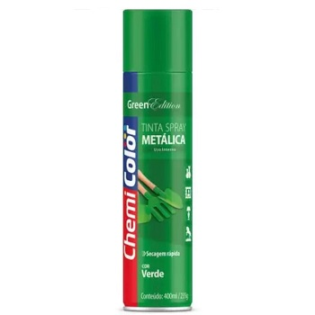 Tinta Spray Metálica  400ml Verde - Ref. 680101 - CHEMICOLOR