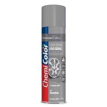 Tinta Spray Uso Geral 400ml Alumínio - Ref. 680088 - CHEMICOLOR