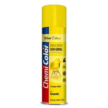 Tinta Spray Uso Geral 400ml Amarelo - Ref. 680091 - CHEMICOLOR