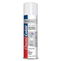 Tinta Spray Uso Geral 400ml Branco Fosco - Ref. 680123 - CHEMICOLOR