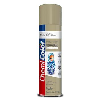 Tinta Spray Uso Geral 400ml  Verniz - Ref. 680117 - CHEMICOLOR