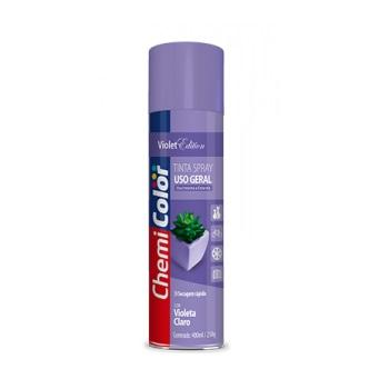 Tinta Spray Uso Geral 400ml Violeta Claro - Ref. 680201 - CHEMICOLOR