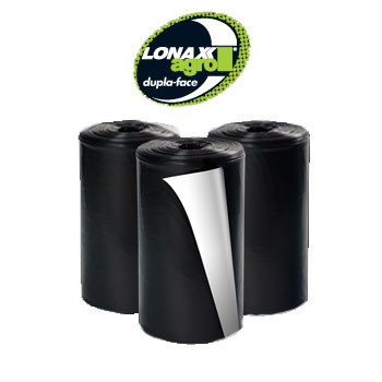 Lona Plástica 4x50m 24kg Agro Preta/Branco - Ref.007019 - LONAX