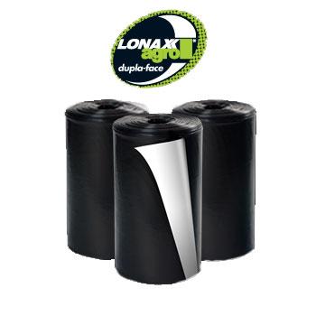 Lona Plástica 6x50m 30kg Agro Preta/Branco - Ref.007022 - LONAX