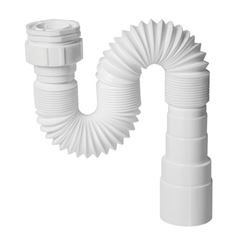 Sifão Sanfonado Plástico DN38/50MM Multi Branco - Ref.0860 - KRONA