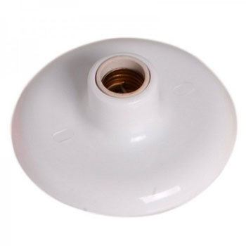 Plafon Plástico 100w 250v Receptáculo Branco - Ref.180931 - ILUMI