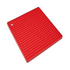 Apoio de Panela Silicone 17cm Quadrado Color - Ref.008534 - MOR