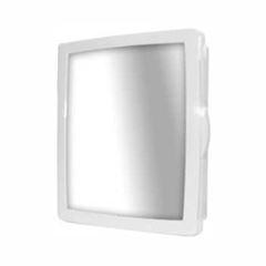 Armário Banheiro Plástico 36,5x31,5x9 Embutir/Sobrepor Cinza Claro - Ref.183300 - DUDA