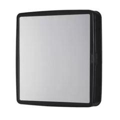 Armário Banheiro Plastico 36,5x31,5x9 Embutir/Sobrepor Preto - Ref.183900 - DUDA