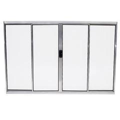 Janela Alumínio 4 Folhas Vidro Canelado 150x100 MCJCNTC005MC - Ref. EMC003008 - QUALITY
