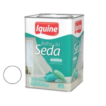 Tinta Acrílica Acetinada Brilho da Seda Branco Neve 18 Litros - Ref. 262300205 - IQUINE