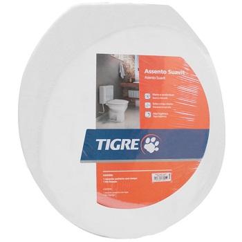 Assento Plástico Almofadado Suavit Branco - Ref.26910510 - TIGRE
