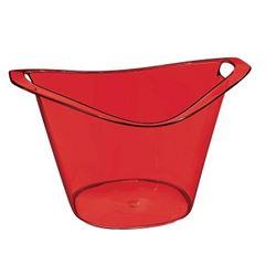 Balde de Plástico para Gelo 3 Litros Gold Vermelho - Ref. UZ150-VM - UZ UTILIDADES