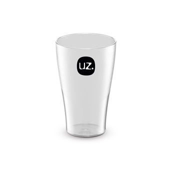 Copo de Plástico 300ml Transparente Translucido - Ref.UZ114-TR - UZ