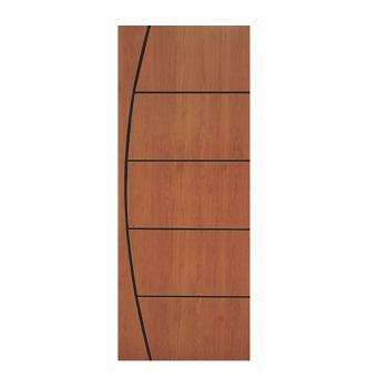 Porta Madeira 80x210 Frisada Duratex Mogno M01 - Ref.1313 - KDK