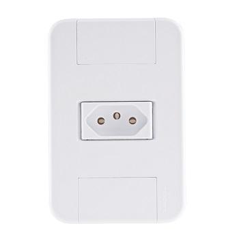 Tomada 4x2 Simples 2P+T 10A/250V Tablet Branca - Ref. 57240010 - TRAMONTINA
