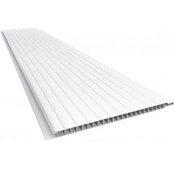 Forro PVC 200mm 5m/1,0m² Pratic Liso Branco - Ref. 010103020105 - ARAFORROS