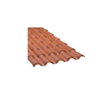 Telha PVC 0,88x2,30M Colonial Cerâmica - Ref. 0801010102 - ARAFORROS