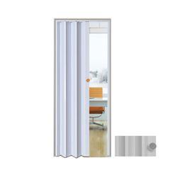 Porta Sanfonada PVC 0,60x2,10m Easy Cinza - Ref. 05030701 - ARAFORROS