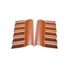 Cumeeira PVC 0,88cm Central Superior Cerâmica - Ref. 0902010103 - ARAFORROS