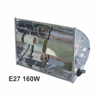 Refletor Alumínio 160w E27 TA160 Preto - Ref. 02070006-03 - TASCHIBRA