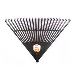 Vassoura Plástica para Jardim 22 Dentes Preta 54,5 cm Cabo 1,2M - Ref. 13310 - MAX FERRAMENTAS