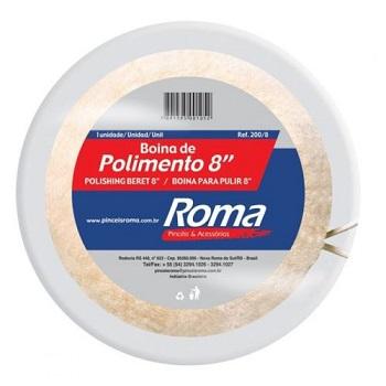 Boina Lã Polimento 8 203mm - Ref.200 8 - PINCEIS ROMA