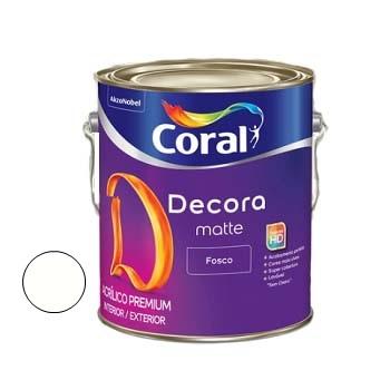 Tinta Acrílica Fosca Decora Branco 3,6 Litros - Ref. 5239242 - CORAL