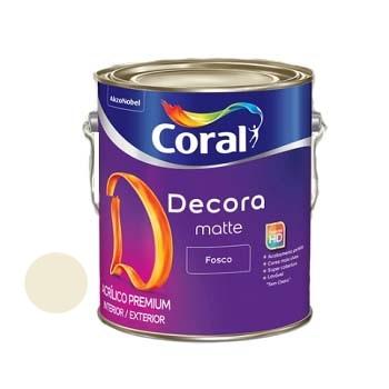 Tinta Acrilica Fosca GL3,6L Decora Palha - Ref. 5239487 - CORAL