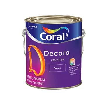 Tinta Base Acrílica Fosca Decora T 3,2 Litros - Ref. 5239076 - CORAL