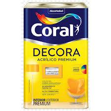 Tinta Base Acrílica Fosca Decora T 16 Litros - Ref. 5239074 - CORAL