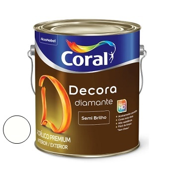 Tinta Acrílica Semibrilho 3,6 Litros Decora Branco - Ref. 5239390 - CORAL
