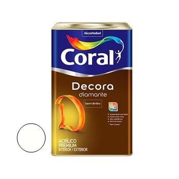 Tinta Acrílica Semibrilho 18 Litros Decora Branco - Ref. 5239355 - CORAL
