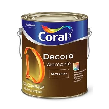 Tinta Base Acrílica Semibrilho Decora T 3,2 Litros - Ref. 5239187 - CORAL