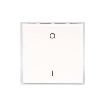 Interruptor 2 Módulo Simples Bipolar 10A Arteor Quadrada Branco - Ref. 572040B - PIAL