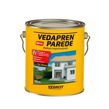 Impermeabilizante Acrílico 3,6 Litros Vedapren Parede Branco -  Ref.121863 - VEDACIT