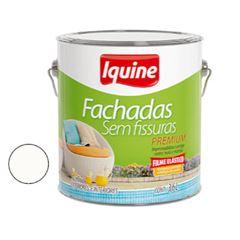 Tinta Acrilica Fachada GL3,6L Sem Fissuras Branco Neve - Ref.246300201 - IQUINE