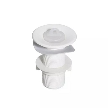 Válvula Lavatório PVC 7/8 Branca - Ref.1523B-1 - LUCONI